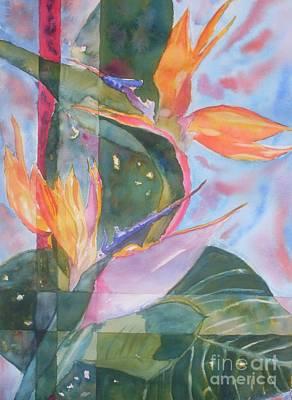 Bird Of Paradise Abstract Art Print by Warren Thompson