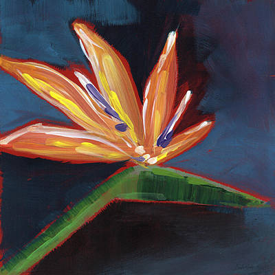 Large Flower Painting - Bird Of Paradise- Art By Linda Woods by Linda Woods