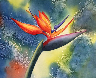 Painting - Bird Of Paradise Flower by Hilda Vandergriff