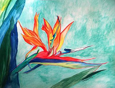 Yucatan Painting - Bird Of Paradise I by Jacquie King