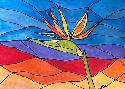 Painting - Bird Of Paradise In Florida by Anne Sands