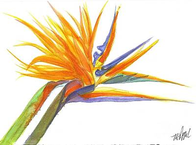Wall Art - Painting - Bird Of Paradise by Midge Pippel