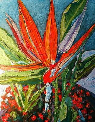 Painting - Bird Of Paradise by Ray Khalife
