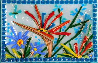 Bird Of Paradise Sushi Tray Original by Joan Clear
