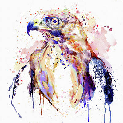 Raptor Art Mixed Media - Bird Of Prey  by Marian Voicu