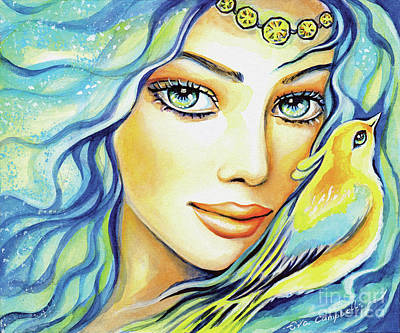 Painting - Bird Of Secrets by Eva Campbell