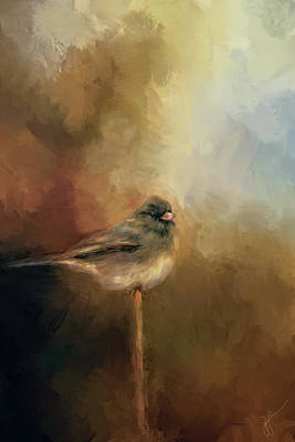 Painting - Bird On A Branch 2 by Jai Johnson