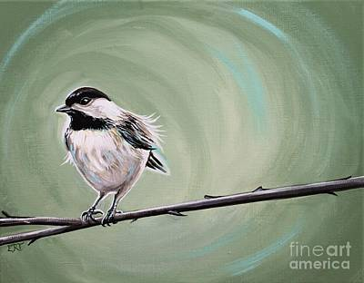 Painting - Bird On A Branch by Elizabeth Robinette Tyndall