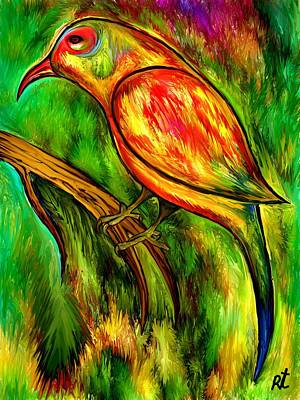 Bird On A Branch Art Print by Rafi Talby