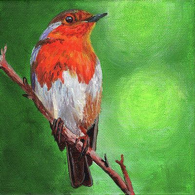Painting - Bird On A Branch by Timithy L Gordon