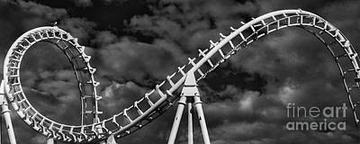 Rollercoaster Photograph - Bird On A Coaster by Tom Gari Gallery-Three-Photography