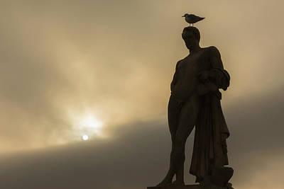 Photograph - Bird On A Statue by Mark Harrington