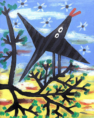 Painting - Bird On A Tree After Picasso by Alexandra Jordankova