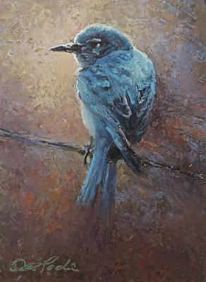 Painting - Bird On A Wire by Mia DeLode