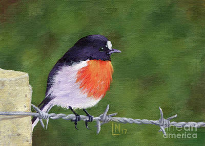 Painting - Bird On Barbed Wire by Lisa Norris