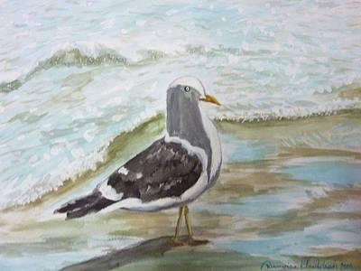 Painting - Bird On The Beach by Wanvisa Klawklean