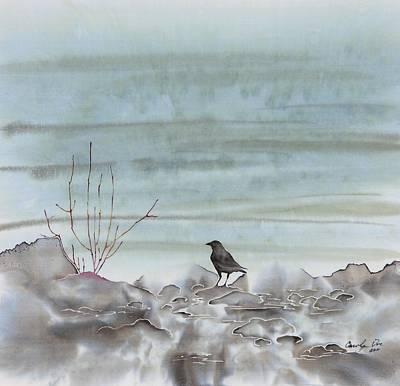 Bird On The Shore Art Print by Carolyn Doe