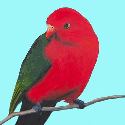 Bird Painting - Bird Painting - King Parrot by Jan Matson