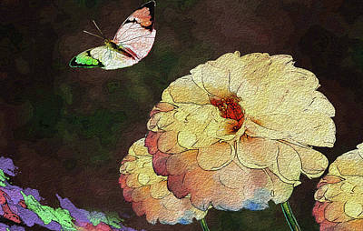 Digital Art - Flower Knows, When Its Butterfly Will Return by Manjot Singh Sachdeva