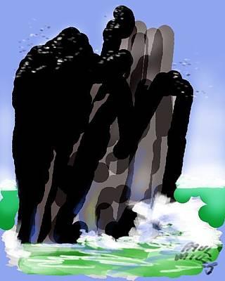 Bird Rock Off Marin Headlands Art Print