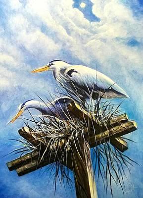 Punta Gorda Painting - Bird Sanctuaryl  by Larry Palmer
