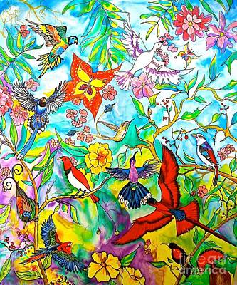 Painting - Birds Of Praise by Nancy Cupp