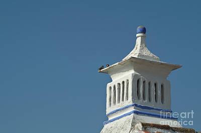 Old Photograph - Bird Talk On A Chimney. Algarve Portugal by Angelo DeVal