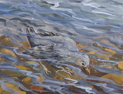 Painting - Bird Underwater by Dawn Senior-Trask