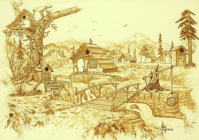 Treehouse Painting - Bird Village by Paul Henderson