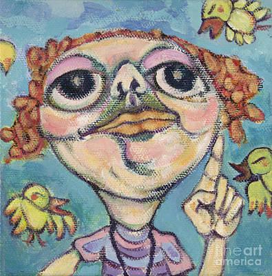 Bird Watcher Art Print