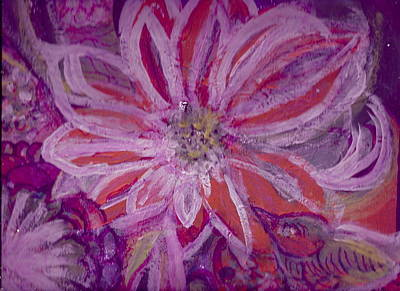 Fantastique Painting - Bird Watching Flower by Anne-Elizabeth Whiteway