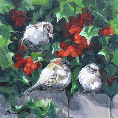 Painting - Bird Watching by Karen Ilari