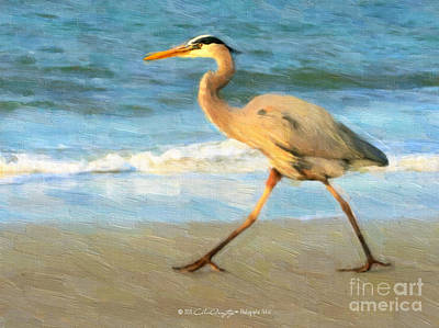 Painting - Bird With A Purpose by Chris Armytage