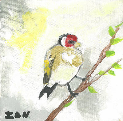 Painting - Bird With Heart by Ian Reynolds