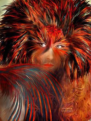 Buy Fine Art Mixed Media - Bird Woman by Carol Cavalaris