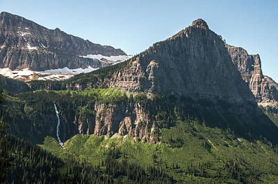 Photograph - Bird Woman Falls And Mount Cannon Glacier National Park by NaturesPix