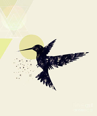 Vintage Map Digital Art - Bird X by Amir Faysal