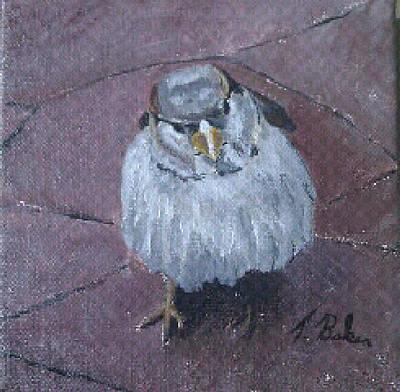 Painting - Birdatude by Tony Baker