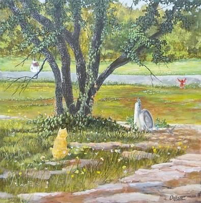 Painting - Birdbath  by Michael Dillon