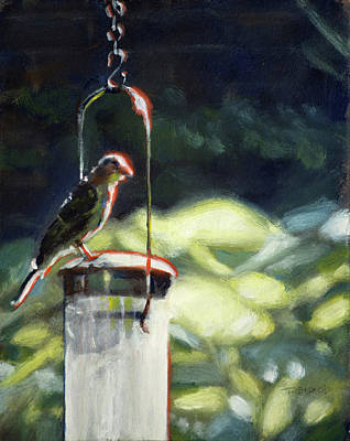Painting - Birdfeeder by Christopher Reid