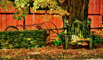 Photograph - Birdhouse Chair In Autumn by Jeff Folger