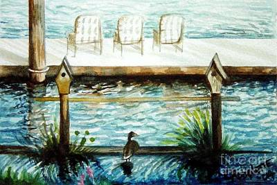 Painting - Birdhouse Haven by Elizabeth Robinette Tyndall