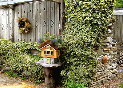 Photograph - Birdhouse In The Ivy by Floyd Snyder
