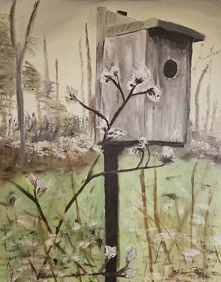 Painting - Birdhouse by Jessie Henry