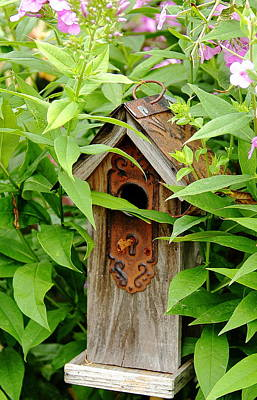 Photograph - Birdhouse Lock And Key by Allen Nice-Webb