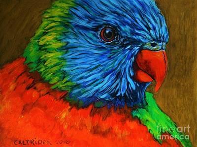 Painting - Birdie Birdie by Alison Caltrider