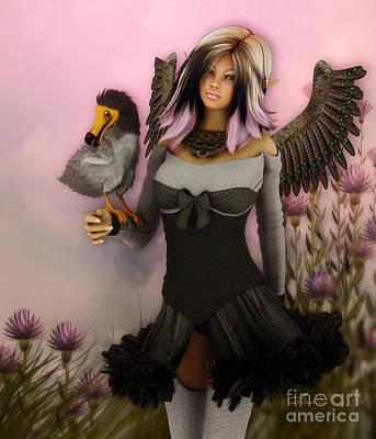 Dodo Digital Art - Birdie by Jutta Maria Pusl