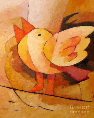 Birdie Art Print by Lutz Baar