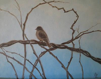 Bittersweet Painting - Birdie by Oksana Zotkina