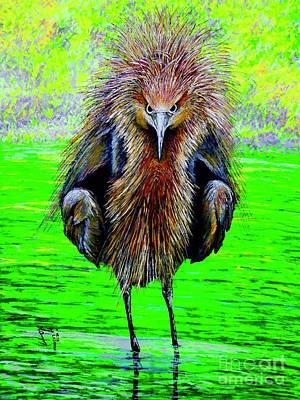 Painting - Birdie by Viktor Lazarev